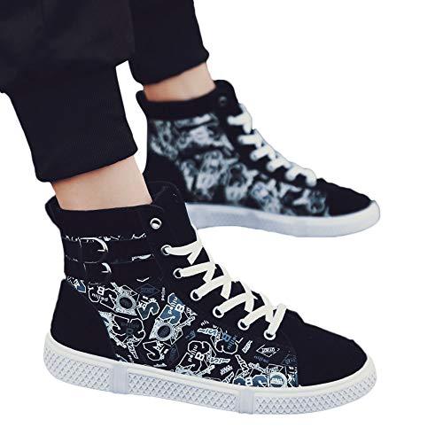 Bottines Toile Hommes Blanc Haut Causal Chaussures D'affaires Montagne Lacets Décontractées Femmes De Casual xIxPqw8