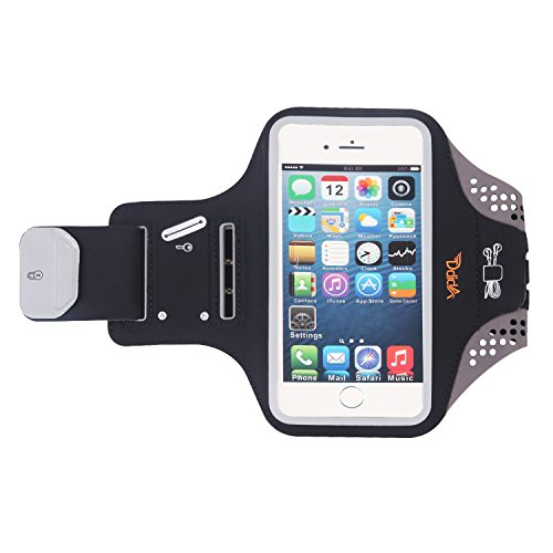 Ddida Armband for iPhoneX,8,8+,7,7+,6S,6S+,6,6+,iPod Galaxy S6,S6 Edge S5- Fingerprint Touch, Sports Armband with Hidden Pockets for Key Card Headphones Perfect for Running, Exercise, Jogging, (Touch Sport Armband)
