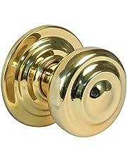 Amig deurknop van gepolijst messing, 70 mm
