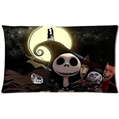 Custom Nightmare Before Christmas Pillowcase Standard Size Design Cotton Pillow Case