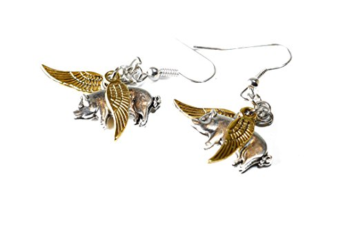Porkopolis: Flying Pig Earrings (Gold ()