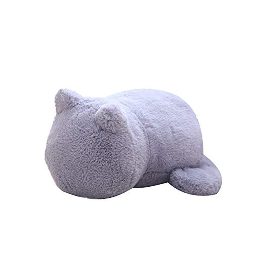 Educational Toys for All Ages Back Shadow Cat Plush Cushion Pillow Stuffed Animal Toy Home Decor Kid Doll Gift - Grey