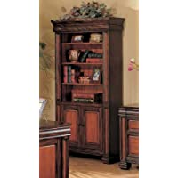 Coaster Home Furnishings 800693 Traditional Bookcase, Black and Cherry