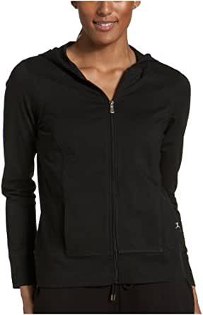 Danskin Women's Zip Hoody Jacket,Black,Small