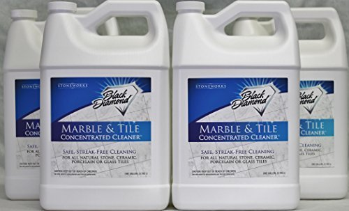 Black Diamond Marble & Tile Floor Cleaner. Great for Ceramic, Porcelain, Granite, Natural Stone, Vinyl & Linoleum. 4 Gallons No-rinse Concentrate by Black Diamond Stoneworks