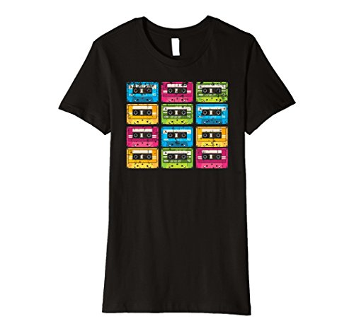Women's Colorful Mix Tapes T-shirt - 5 colors