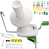 Yarn Winder by Craft Destiny - Easy to Set Up and Use - Hand Operated Yarn Ball Winder 4 Ounce Capacity - Sturdy with Metal Handle and Tabletop Clamp - Knitting kit Included: more info