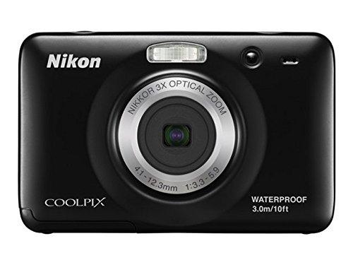 Nikon Coolpix S30 Digital Camera - Black (10MP, 3x Optical Zoom) 2.7 inch LCD