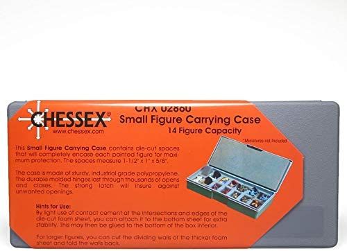 14 25mm Spaces CHX02860 Chessex Figure Carrying Case