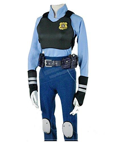 Full Accessories Judi Hopps Police Uniform Cop Cosplay Costume (Full House Costumes)