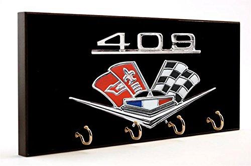 Brotherhood Chevrolet Engine 409 Big Block Flag & Checkered Flag Emblem Dog Leash and Key Hanger