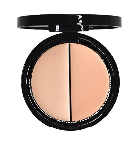 EVE PEARL Dual Salmon Concealer Full Coverage Under Eye Concealer Smooth Skin Treatment Brighten Makeup Hydrate Skincare (Light) ()