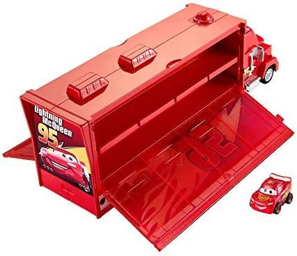 Mattel Disney Cars FLG70 Disney Cars Mack Transporter (inkl. 1 Mini Racer Lightning McQueen), Mehrfarbig