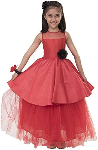 c81c02df1974 Samsara Couture Red Colour Girls Party Wear Gown and Gown for Kids ...