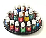 Essential Oil Carousel Storage Display Rack for 15ml bottles – 2 tiered – Black, Health Care Stuffs
