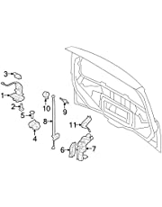 amazon trunk lid pull down motors automotive 1949 Ford Panel Van ford da8z 14b351 a tailgate pull down motor