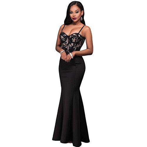 LikeYOU Womens Mermaid Luxe Maxi Skirt M (Fish Net Arm Sleeves)
