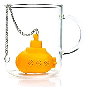 Time Roaming High Quality Silicone Yellow Submarine Tea Infuser