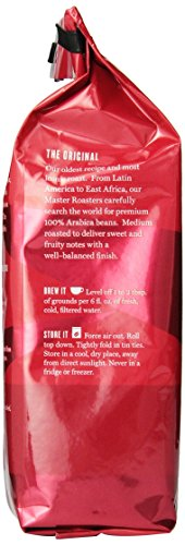 Eight O'Clock Ground Coffee, The Original, 12 Ounce (Pack of 6)