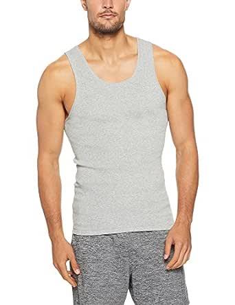 Bonds Men's Underwear Cotton Chesty Singlet, Grey Marle, 14 / Small (1 Pack)
