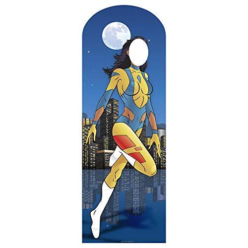 Star Cutouts SC651 Superhero Female Stand-In Cardboard Cutout Standup]()