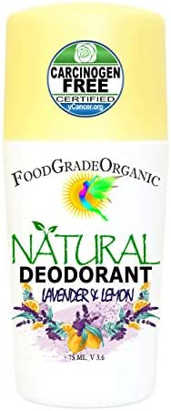 Organic 100% Natural Healing Detox Deodorant For Men & Women Carcinogen Free Certified Aluminum