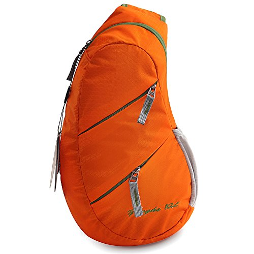 Travel Fabric Capacity Female Wearable Yxngbo Male Bag Nylon Waterproof High Ride Messenger Chest Orange And Pack wfw4tnIq