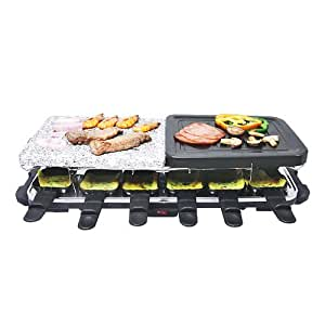 HOMEIMAGE Raclette Indoor Grill with Marble Plate HI-6K114BO