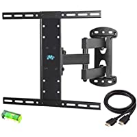 Mounting Dream MD2383 TV Wall Mount Bracket for most of 26-55 Inch LED, LCD, OLED and Plasma Flat Screen TV with Full Motion Swivel Articulating Arm up to VESA 400x400mm and 66 LBS with Tilting
