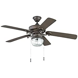 Bromley 52 In Led Indoor Outdoor Bronze Ceiling Fan