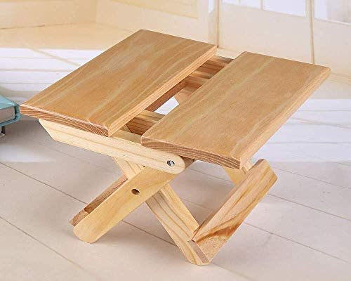 ZHANGZZ Chaises de salle à manger, Articles ménagers Chaise longue, tabouret pliant en bois Chaises salle à manger