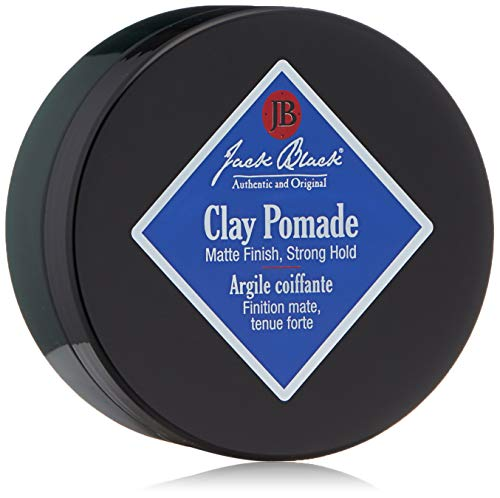 Jack Black - Clay Pomade, 2.75 oz - PureScience Formula, Hair-Sculpting, Natural-Looking Hold, Matte Finish, Buildable Control, Natural Oils, Botanical Extract, Fragrance Free