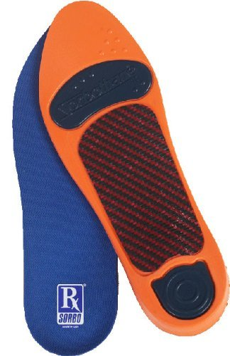 Rx Sorbo Sorbothane Ultra Orthotic Arch Insoles, Male 11 - 12