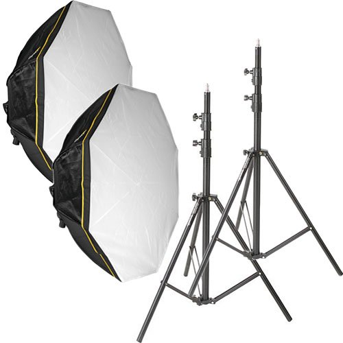 Impact Octacool-6 Fluorescent 2 Light Kit with Octabox (6 Lamps) by Impact