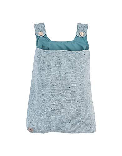 Jollein Bettbezug und Kissenbezug Aufbewahrungstasche Konfetti Strick Stone Green Aufbewahrungstasche Konfetti Strick Stone Green von