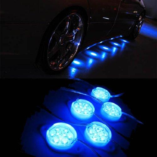 iJDMTOY Mercedes-Benz Brabus Style 90-LED Under Car Foot Area Illumination LED Puddle Lights, Ultra Blue