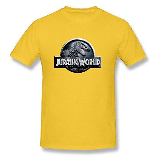 Mens Jurassic World Yellow T Shirts