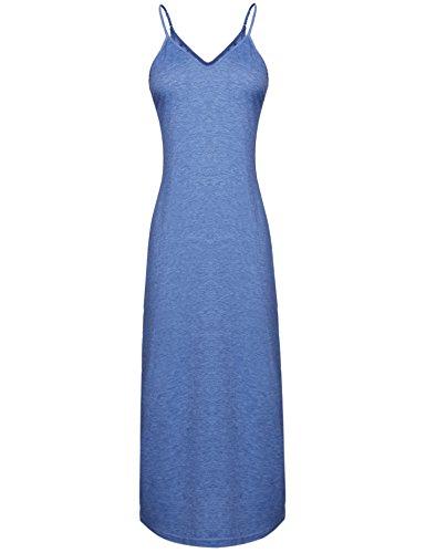 sans Bleu Et Femme Casual Navy Robe Ample Manche Longue Femme Plage haijiate Robe Coton de Poche qtxwXZ74F