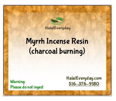 Myrrh Incense Resin - 1lb - 100% Pure Myrrrh - Incense Resin for charcoal burning - incense without any fillers, sticks, or anything else to get in the way of the scent