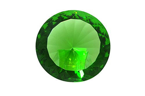 Tripact 120mm Emerald Green Crystal Diamond Jewel Paperweight 4.72 Inch