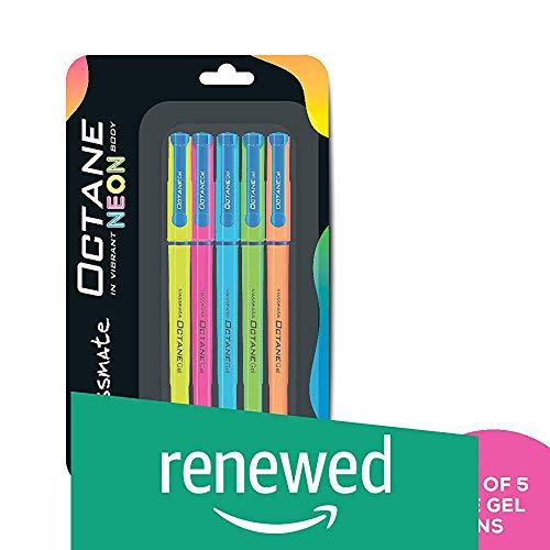 (Renewed) Classmate Octane Gel Pen (Blue)- Neon Series- Pack of 5 (B07WWCKYJD) Amazon Price History, Amazon Price Tracker
