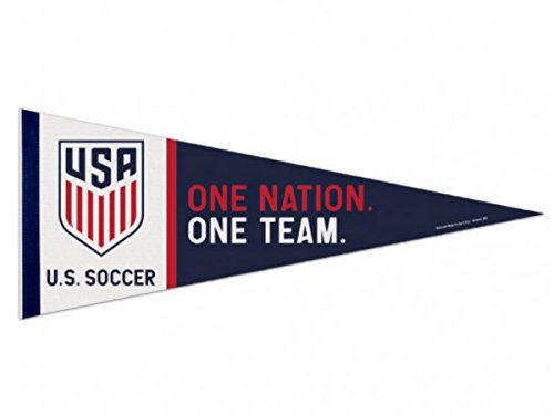 Football Premium Felt (USA United States National Soccer Team WinCraft Navy Red Premium Felt Pennant)