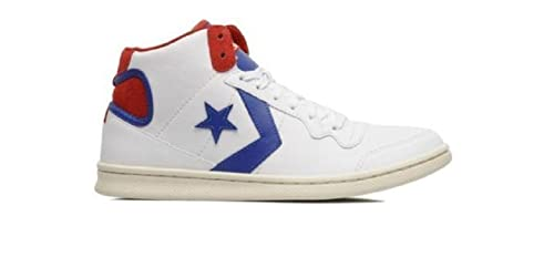 134ca158edf8 Converse Unisex Fast Break LP Mid White Red 136934C Men 9 Women 10.5 ...
