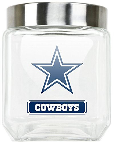 NFL Dallas Cowboys Glass Canister, Large