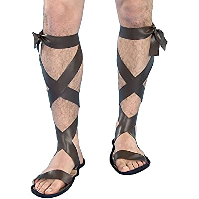 Forum Novelties Men's Novelty Wise Man Roman Sandals, Brown, One Size: Clothing