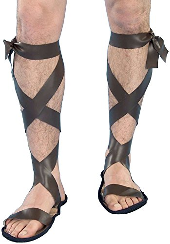 Forum Novelties Men's Novelty Wise Man Roman Sandals, Brown, One Size]()