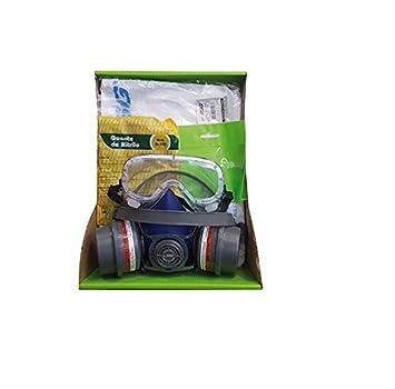 Kit General de Protección Pintura Semi Profesinal EPI. Mascara + Prefiltro + Filtros + Gafas + Guantes + Mono Buzo.
