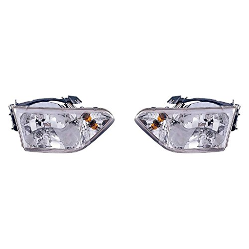 (Fits Nissan Quest 2001-2002 Headlight Assembly Pair Driver and Passenger Side (NSF Certified) NI2502140, NI2503140)