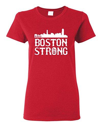 Ladies Boston Strong Skyline 617 T-Shirt Tee (X-Large, ()