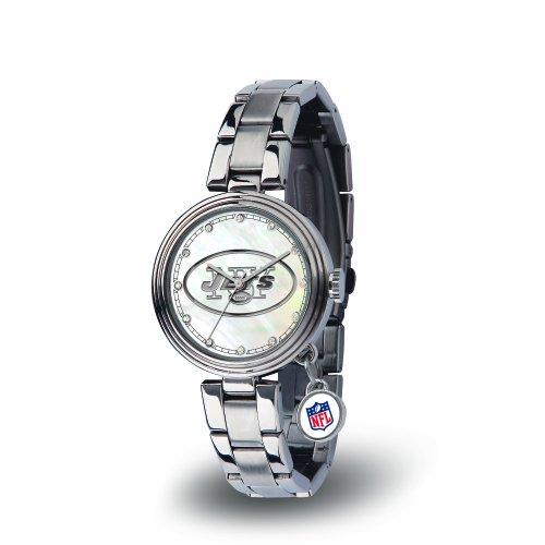 NFL New York Jets Charm Watch, Silver (New York Jets Team Timer)